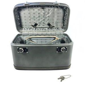 Vintage Oshkosh Gray Travel Train Case Luggage